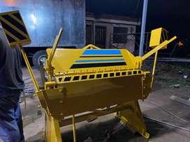 Dobladora de tol de 1.25 mtr cap de 2 m.m con transporte y garantía.