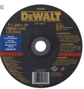 "Disco abrasivo para inoxidable 7"" x (2.0mm) Dewalt"