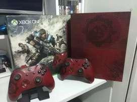 Xbox one edición especial de 2 teras 2 controles 1 juego en caja