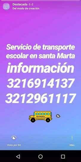 Transporte escolar en santa Marta