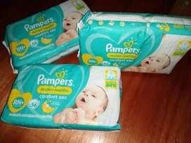 Pañales Pampers Confort Sec RN+ x 56u
