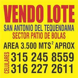 GANGA LOTE EN SAN ANTONIO DEL TEQUENDAMA