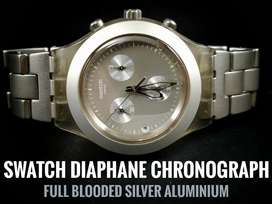 SWATCH DIAPHANE FULL BLOODED SILVER