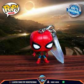 Funko Pop Llavero Spiderman ( Iron Spiderman)