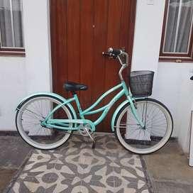 Bicicleta de paseo estilo vintage de aluminio aro 26 contrapedal original