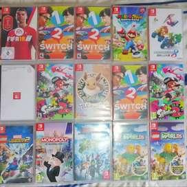 Juegos físicos para Nintendo switch