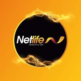 Comercializacion de Planes del Mejor Internet para el hogar NETLIFE