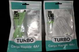 Cable USB de silicona carga rápida Tipo V8