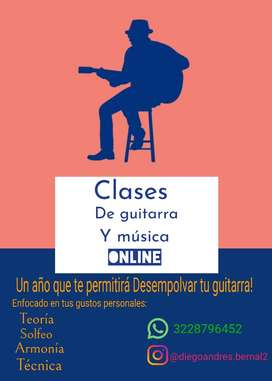 PROMOCION CLASES ONLINE DE GUITARRA Y MUSICA