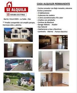 Alquiler de Casa permanente en La Falda Cba