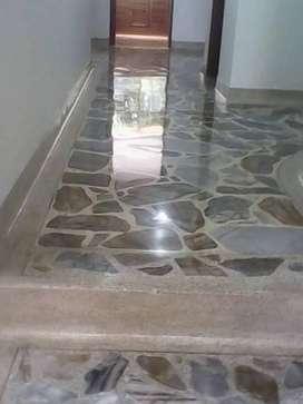 Brillada,pulida y cristalizada de pisos
