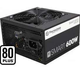 Fuente Thermaltake smart 600w 80 plus white