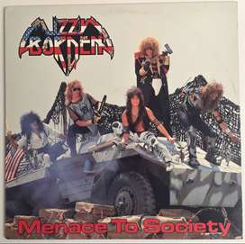 Lizzy Borden Menance To Society Lp Metal Blade 1986