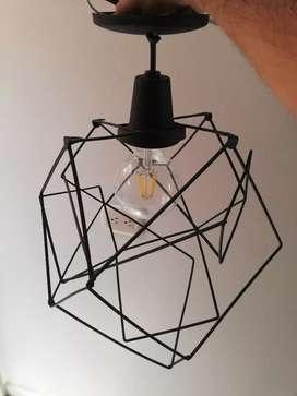 Lámpara decorativa para ambientes en negocio o habitación