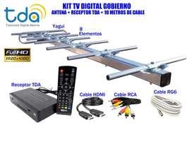 KIT TV DIGITAL ANTENA, RECEPTOR TDA, MAS 10 MTS DE CABLE. PROMO OFERTA