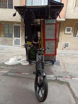 Bici motor con frente de moto+freidora