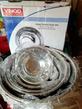 Bowls Acero S. 50, 5 Pzas Nvo