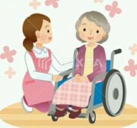 Cuidadora de niños o adultos mayores