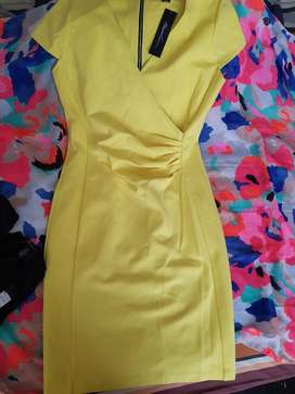 Vestido Amarilla Kenneth Cole M.l