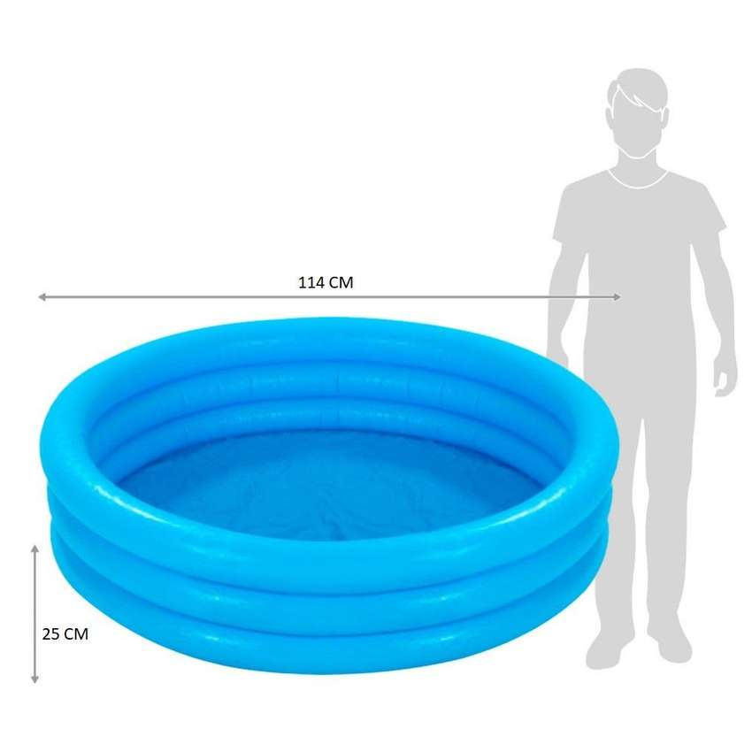 Piscina Inflable Azul Intex Para Niños 3 Aros 1.14 mt x 25 cm