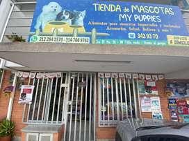 Vendo tienda de mascotas acreditada para tomar en local o traslado.