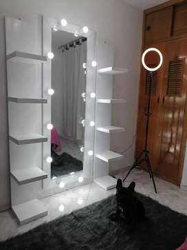 Espejo hollywood/ espejo vanity, espejo con bombillos.
