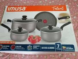 Bateria de cocina nueva marca IMUSA con base difusora