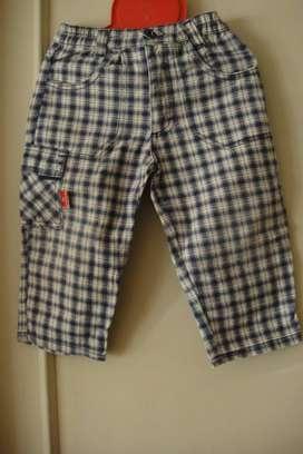 Pantalón cuadrillé para 2 años