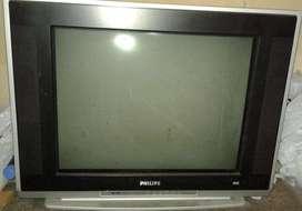 Vendo TV Phillips 21pulgadas pantalla PLANA USADO