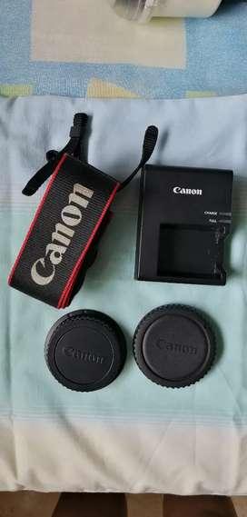 Tapas, correa y cargador para cámara canon originales