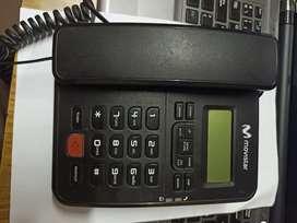 Teléfono Fijo con identificador de llamadas.