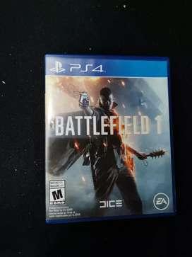 Se vende juego play 4 battlefield 1 $ 60.000