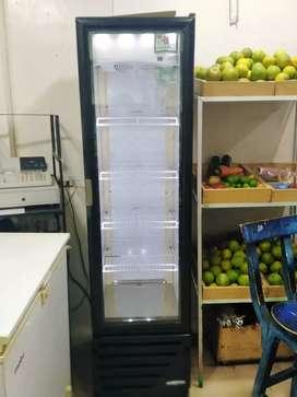 Se vende vitrina refrigeradora larga