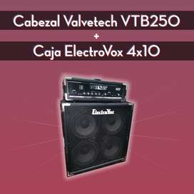 Cabezal P/ Bajo Valvetech Vtb250 + Caja Electrovox 4x10