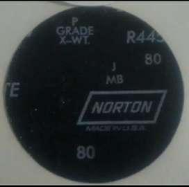 Lija adhesiva para vidrio marca norton grano 80