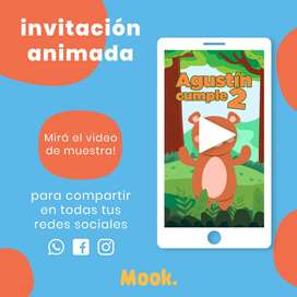 Animales del Bosque Invitación Animada en Video