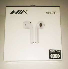Audífonos Bluetooth NIA AN-7S tipo Airpods súper bass