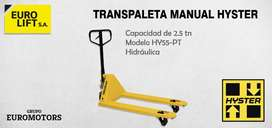 Transpaleta Stocka Manuales Hidráulicas Hyster 2500 Kg.