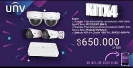 KIT de Camaras de Seguridad IP Univew
