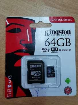 MEMORIA MICRO SD DE 64 GB NUEVO