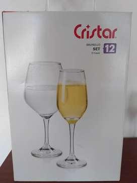 Set De 12 Copas Brunello Cristar.