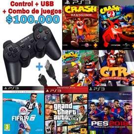 Control play3 + juegos