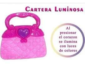 Cartera luminosa nueva con etiqueta!!