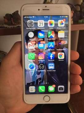 Vendo iphone 6s plus impecable con accesorios NEGOCIABLE.
