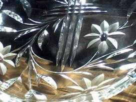Plato de Cristal Tallado