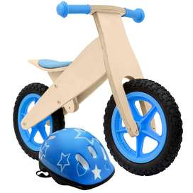Bicicleta De Madera Sin Pedales Para Niños Azul O Roja