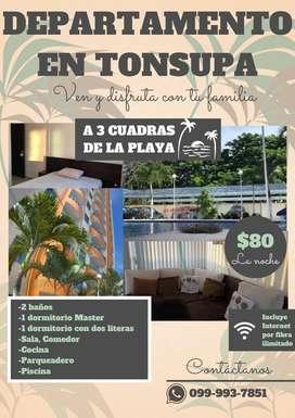 Departamento en Tonsupa
