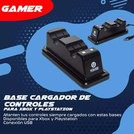 Base cargador de controles XBOX PS4 PLAY4 PLAYSTATION