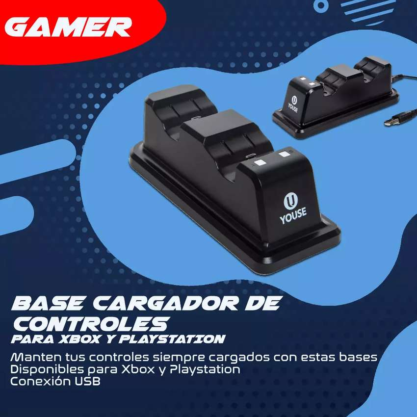 Base cargador de controles XBOX PS4 PLAY4 PLAYSTATION 0