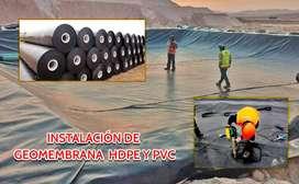 VENTA E INSTALACION DE GEOMEMBRANA HDPE Y PVC EN TODO EL PERU
